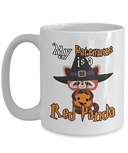 Taza t cermica uso prolongado Halloween My Patronus es un rojo mejor disfraz de truco o trato de Halloween rojo Taza bebida caf Regalo