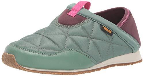 Teva Kid's EMBER MOC Shoe, Helix Green, 4 Medium US Big Kid