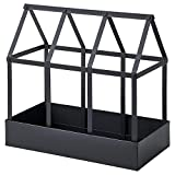 Senapskal Ikea - Miniinvernadero para el alféizar de la ventana (36 x 18 x 34 cm), color negro