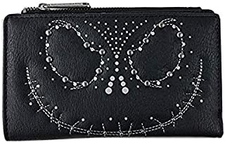 Loungefly x Nightmare Before Christmas Jack Skellington Studded Top Zip Bi-Fold Wallet