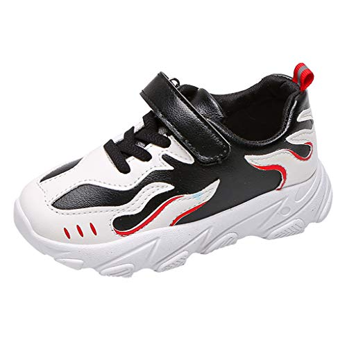 HDUFGJ Sneaker Unisex - Kinder Freizeitschuhe Atmungsaktiv rutschfest Laufschuhe Freizeitschuhe Leichtgewicht Faule Schuhe Turnschuhe Fitnessschuhe Flache Schuhe28.5 EU(Schwarz)
