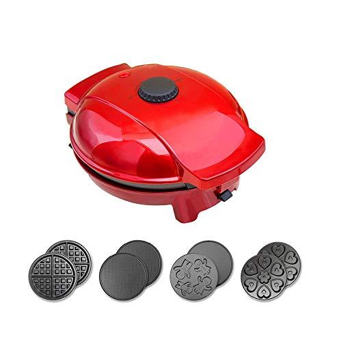 Hammer 4 dans 1 Gaufrier Belge avec des plaques Amovibles, antiadhésifs, Facile à Utiliser et à Nettoyer, toasteur en Acier Inoxydable Premium, Chauffage Machine Egg Roll