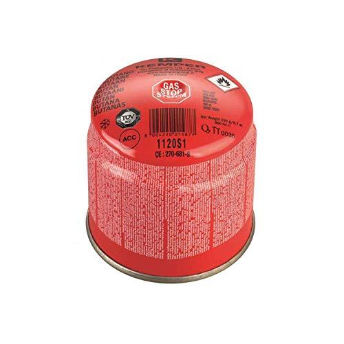 Kemper - Cartucho de cartuchos de gas de 190 g, art. 1120S1 - Con sistema de seguridad de membrana - Oferta para 1 bombona