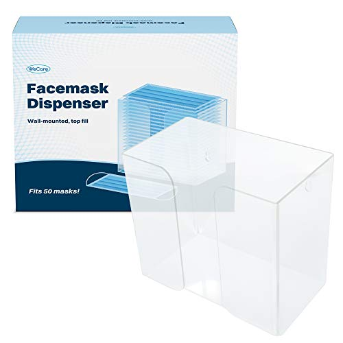 Wecare Universal Face Mask Dispenser -Clear Acrylic- Fits 50+ - 7.5x8.5x4.9""