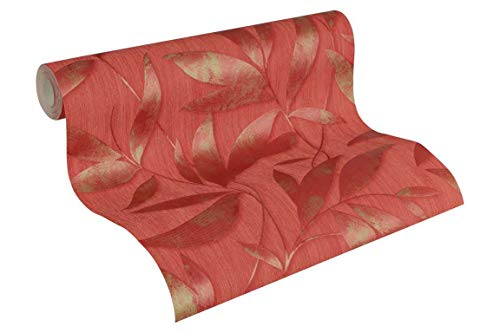 A.S. Création Vliestapete Siena Tapete floral 10,05 m x 0,53 m metallic rot Made in Germany 328802 32880-2