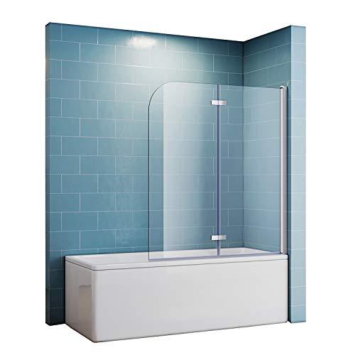 Duschtrennwand für badewanne Falttür 120x140 Duschwand