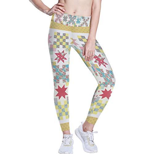 DEZIRO hoge taille yoga broek quilt patroon behang yoga broek met tummy controle, 4 manieren stretchtraining hardlopen yoga legging