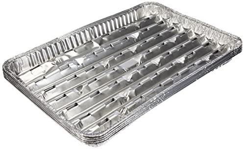 Papstar Alu-Grillschale, Aluminium, Silber, 34x23x2.5 cm, 5 Stück