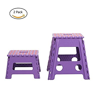 Lucky Tree 2 Pack 15 in and 8 in Folding Step Stool for kids and Adults at Home, Kitchen and Bathroom