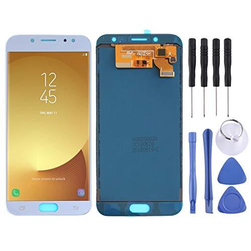 Pantalla LCD para Samsung Pantalla LCD y ensamblaje Completo del digitalizador (Material TFT) For Galaxy J7 (2017) (Color : Blue)