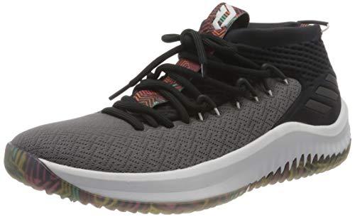 adidas Dame 4, Chaussures de Basketball Homme, Noir (Cblack Ftwwht Grefiv Cblack Ftwwht Grefiv), 48 EU