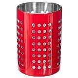 FIVE Simply Smart - Pot à Ustensiles en Inox'Ajouré' 16cm Rouge