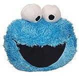 Ex Chain Store - Cojín 3D con diseño de monstruo de galletas, color azul