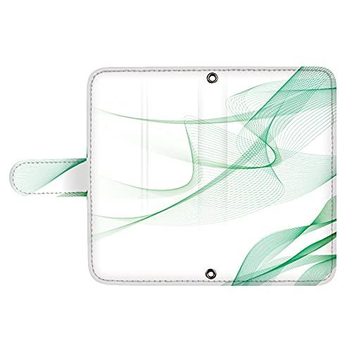 スマQ Qua phone KYV37 国内生産 ミラー スマホケース 手帳型 KYOCERA 京セラ キュアフォン 【B.グリーン】 流動型グラデーション ami_vd-0130_sp