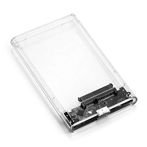 Caja de disco duro 2.5 pulgadas cubierta deslizante redonda Rdge transparente disco duro caja SATA serie estado sólido SSD mecánico USB 3.0 móvil caja de disco duro