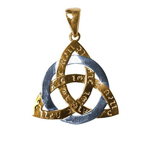 Amulet Celtic Triquetra Trinity Force Power Ancient Sterling silver and gold plated