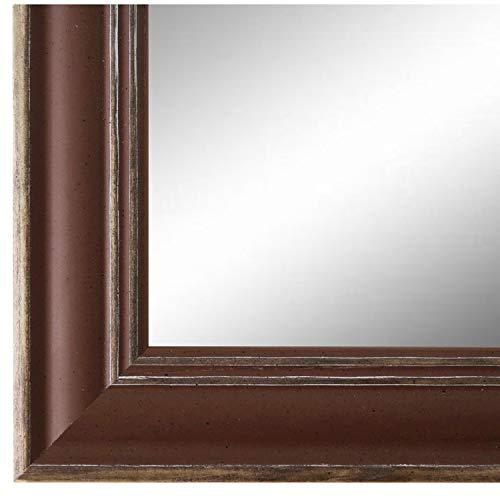 Online Galerie Bingold Spiegel Wandspiegel Braun 70 x 140 cm - Modern, Retro, Vintage - Alle Größen - Massiv - Holz - AM - Latina