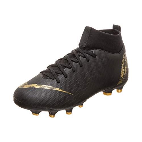 Nike Unisex Superfly 6 Academy MG Fußballschuhe, Schwarz (Black/MTLC Vivid Gold 077), 36 EU