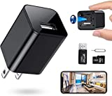 RXAMYDE New 2021 WiFi Hidden Camera Mini Spy Charger 1080P USB Motion Activated Camera Wide Viewing Angle 4K Hidden Spy Camera [Remote App Control] Home, Kids, Baby, Pet Monitoring Cam