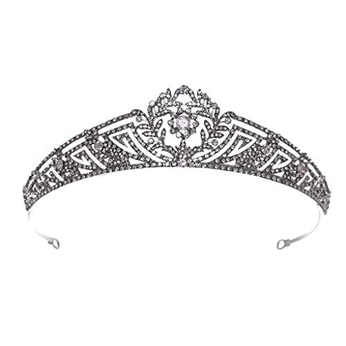 DUESI Corona de cristal y corona de princesa corona de boda Rhinestone...