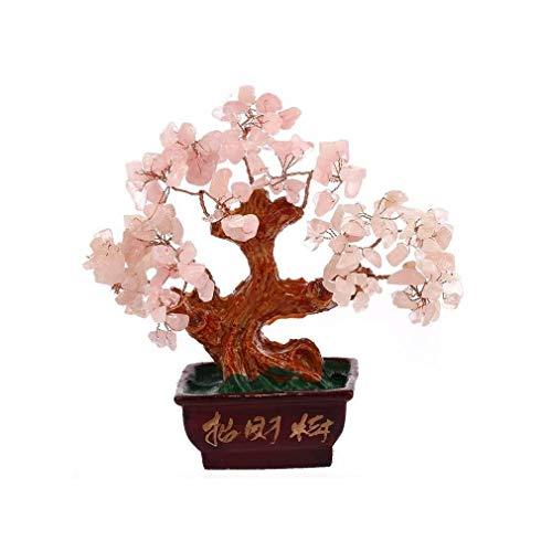 lachineuse Arbre Traditionnel en Quartz Rose - Feng Shui Amour et Fortune