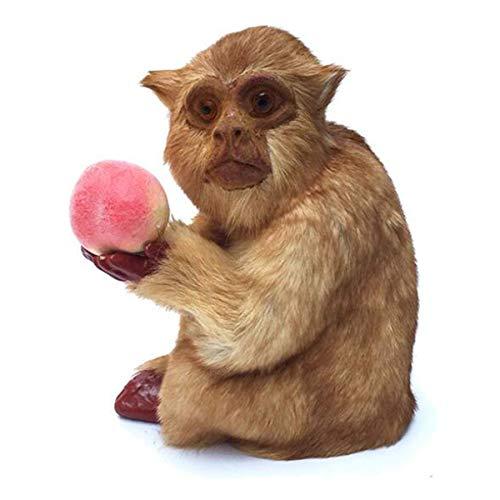 LIUSHI Simulación de Modelo de Mono en Cuclillas - Figuras de Modelos de Animales Juguete - para niños Aprendizaje Educativo Juguetes Naturales Estatuas de Dector para el hogar