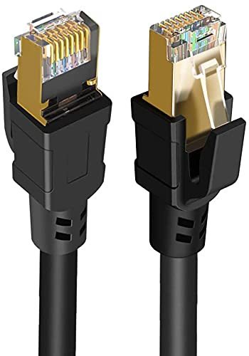 CableCreation Cat 8 Kabel, 3m Cat 8 Netzwerkkabel 40 Gigabit-2000 MHz-SFTP-Internet Ethernet Kabel, Hochgeschwindigkeitskabel für Modem, Router, PS3, PS4, Xbox, 10FT(10 Fuß)/ Schwarz