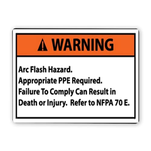 Warning Sign,WARNING Arc Flash Hazard Small 5 Pack,Traffic Sign Road Sign Business Sign 12x16 Inch Aluminum Metal Tin Sign