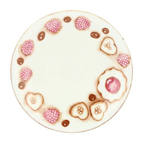 THUN - Piatto Decorato per Biscotti, Torte, Dessert e Aperitivo - Accessori Cucina - Linea New Sweetcake - Formato Medio - Porcellana - ø 19,3 cm