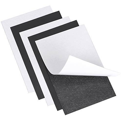 RKZCT 5 Pcs Flexible Magnetic Sheets with AdhesiveBacking, Strong Self Adhesive Magnetic Paper Stickers for Craft, DIY, Photo Craft Magnet