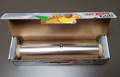 Bobine de papier aluminium en boîte distributrice 45cm x 200M.