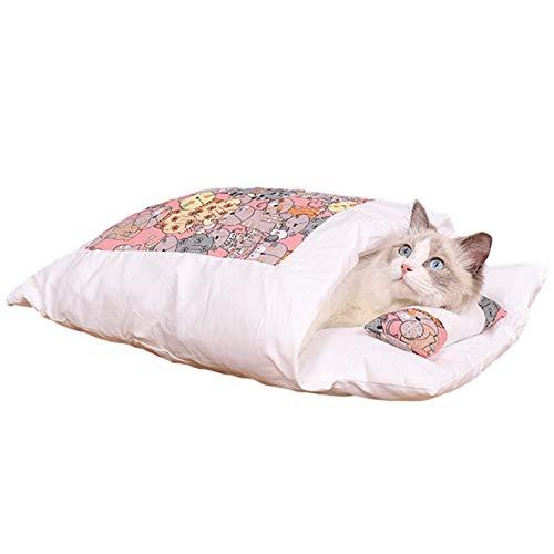 househome - Saco de dormir para mascotas de compañía, saco de dormir para gatos, saco de dormir para mascotas, saco de dormir para perro caliente