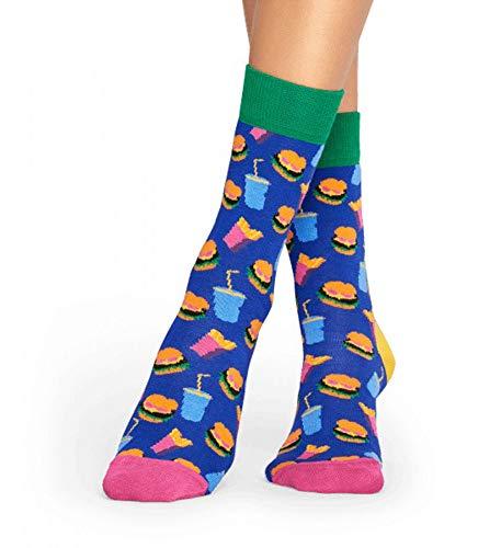 Happy Socks Hamburger Unisex Freizeitsocken Größe 36-40