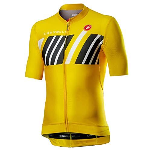 castelli Hors Categorie Camiseta, Hombre, Amarillo, M
