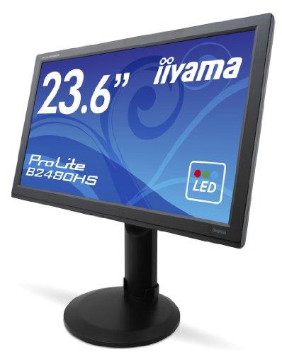 Iiyama B2480HS-B1 59,9 cm (23,6 Zoll) Widescreen TFT-Monitor (LED, HDMI, DVI, VGA, 2ms Reaktionszeit)