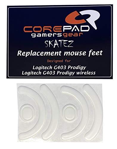 Corepad Skatez - PRO 107 - Logitech G703 Lightspeed / G603 Lightspeed / G403 Prodigy / G403 Prodigy Wireless - Ersatz Mausfüße Replacement Mouse Feet
