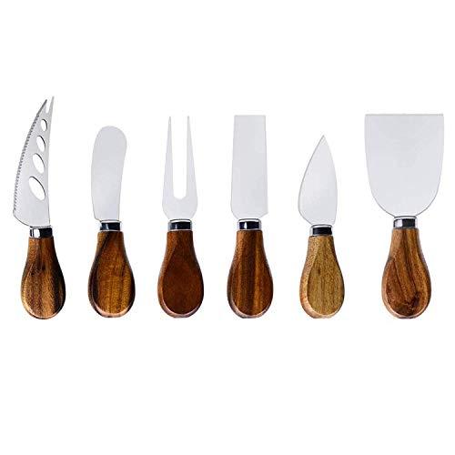 Bigpea Juego de Cuchillo para Queso-6 Piezas Cuchillos para