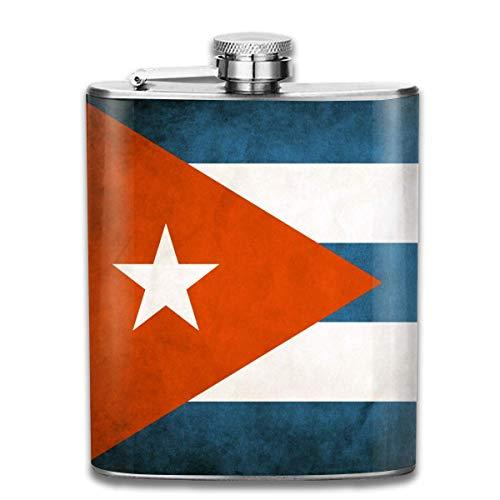 Fiaschetta a forma di bandiera dei liquori Cuba, in acciaio inox resistente, con corpo a forma di U, anti-ruggine, a prova di perdite, fiaschetta per viaggi, pesca, picnic