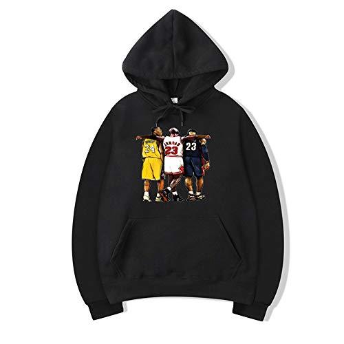 KJYAYA Unisex-Kapuzenpullover Kobe Bryant Lakers # 24 Hoodies Mode Männer Frauen Pullover Lässiges Wildes Kapuzenoberteil Für Frühling Und Herbst (S ~ XXXL)