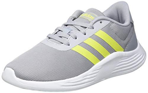 adidas Lite Racer 2.0 K, Zapatillas para Correr, Halo Silver Acid Yellow FTWR White, 35 EU