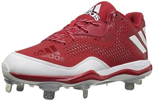 adidas Men's Freak X Carbon Mid Baseball Shoe, Power Red/White/Silver Metallic, (13 M US)
