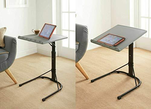 Paradise HomeStore Grey & Black Spaceways Adjustable Versatile Table Features Easily Portable