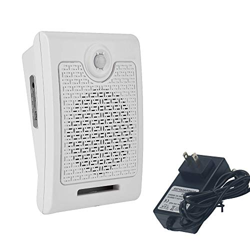 Motion Activated Alarm PIR Motion Sensor Activated Voice Recordable Audio Player for Homes Electronic Watchdog Barking and Public Place,Supermarket,Vending Machine,Construction Site Safety Reminder