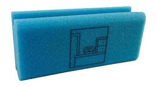 KaiserRein Piktogramm Schwamm Büro blau Putzschwamm mit Beschriftung Pikto Schwamm