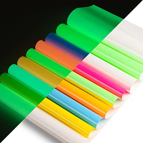 Glow in The Dark Heat Transfer Vinyl Neon Iron on Vinyl