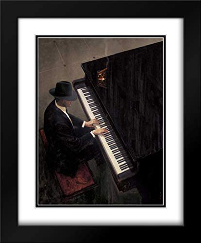 Lynch Brent 15x17 Black トラスト Modern 35%OFF Framed and Matted Double Museum