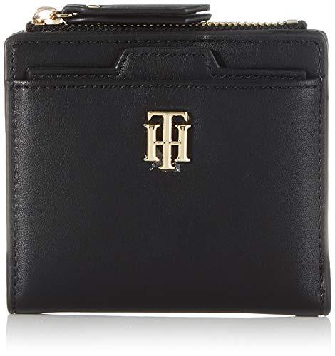 Tommy Hilfiger TH Seasonal Med Slim Wallet, Piccola Pelletteria Donna, Nero, One Size