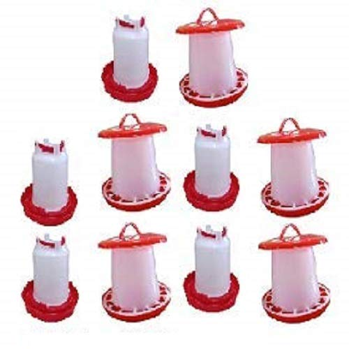 TM&W- Plastic Hanging Poultry Feeder Drinker for All Type Birds Quantity- (10)