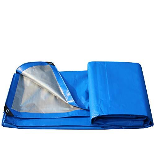 Bâche Haute résistance de Plein air Quatre Saisons Disponibles Résistant aux UV Léger et Durable Pliable Bâche en Plastique PE 0.3mm 200g / m² Bleu (Taille : 6x10m)
