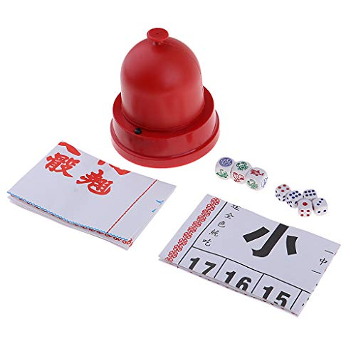 Traditionelles Chinesisches Würfelspiel Glücksspiel ür Familienfeiern und Urlaub